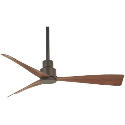 Simple 44 in. Indoor/Outdoor Oil Rubbed Bronze Ceiling Fan with Remote Control