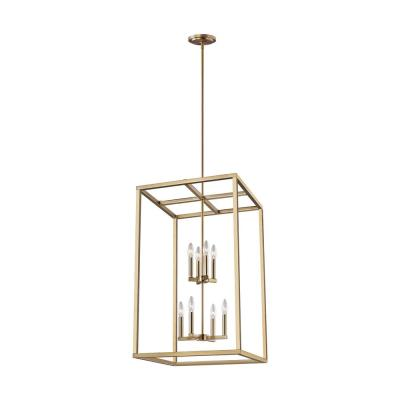 Moffet Street 8-Light Satin Bronze Hall-Foyer Pendant with Dimmable Candelabra LED Bulb