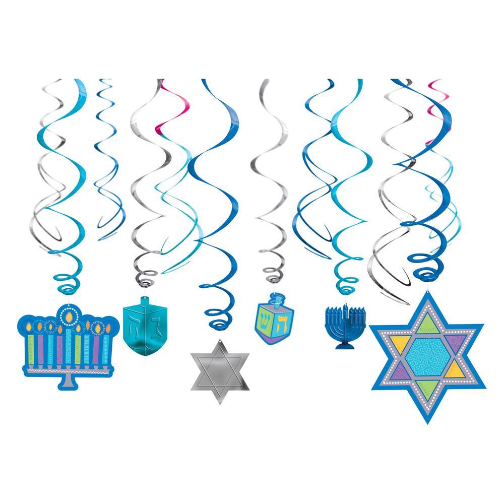 Amscan Hanukkah Swirl Decorations 12 Count 3 Pack