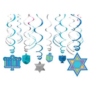 Amscan Hanukkah Swirl Decorations (12-Count, 3-Pack)-670549 - The ...