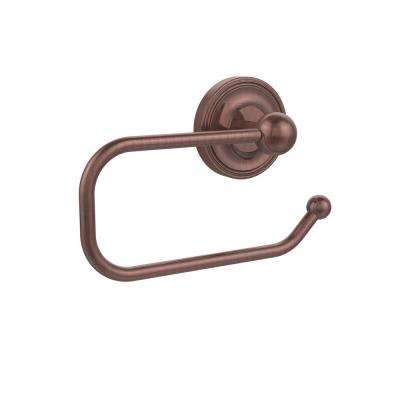 Prestige Regal Collection European Style Single Post Toilet Paper Holder in Antique Copper