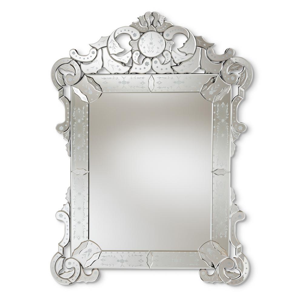 Floriana Antique Silver Wall Mirror