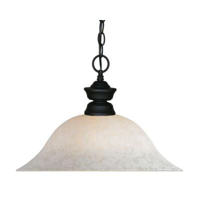 Lawrence 1-Light Matte Black Incandescent Ceiling Pendant