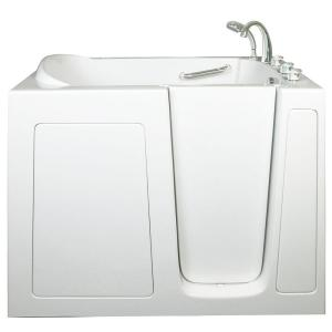 Ella Low Threshold 4.33 ft. x 30 inch Walk-In Soaking Bathtub in White with... by Ella