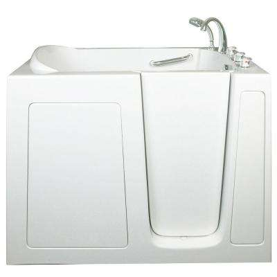 Low Threshold 4.33 ft. x 30 in. Walk-In Air Massage Bathtub in White with Right Drain/Door