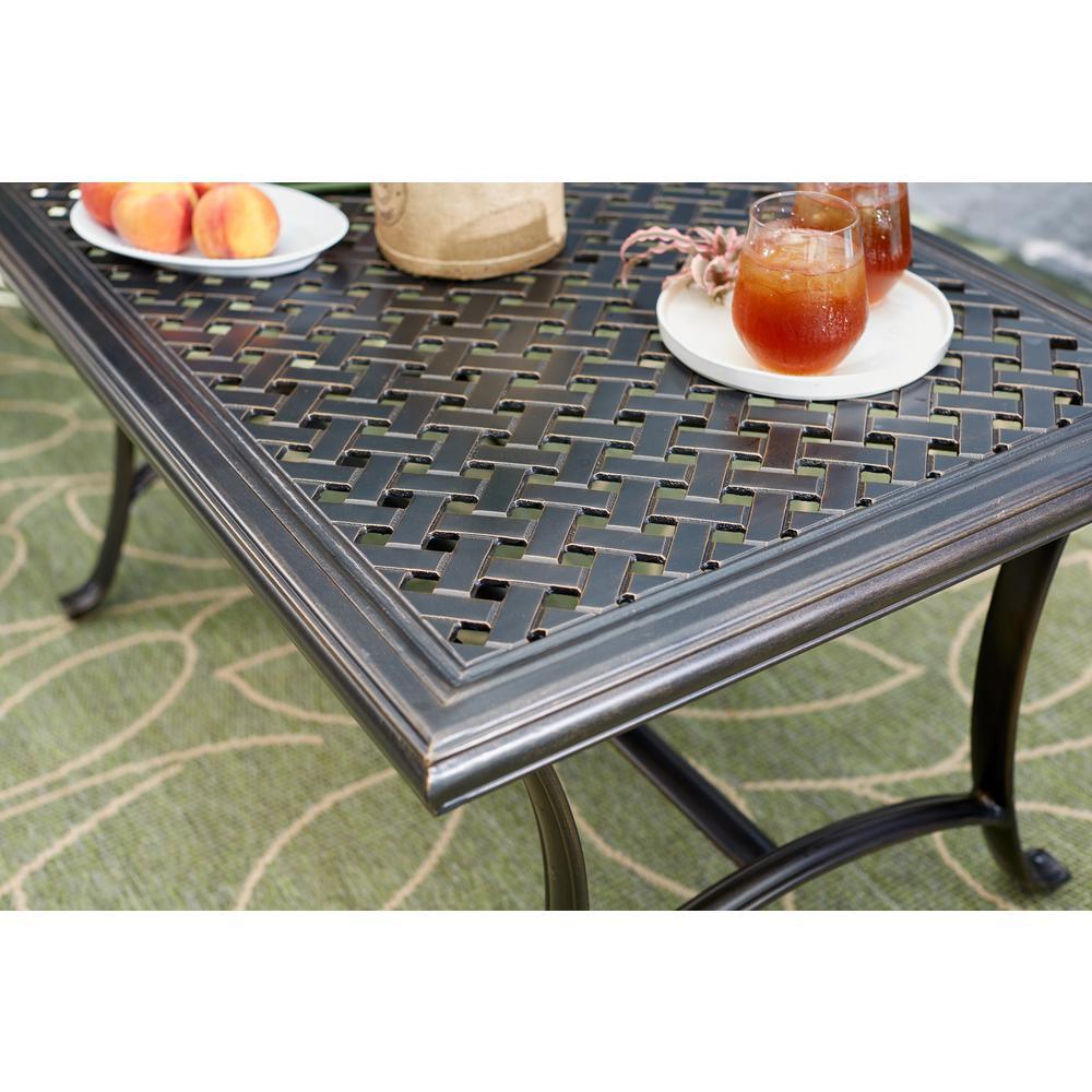 Ridge Falls Aluminum Outdoor Patio Cast Top Coffee Table