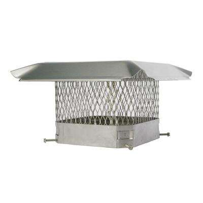 17 in. x 8 in. California Oregon Bolt-On Single Flue Chimney Cap in Stainless Steel