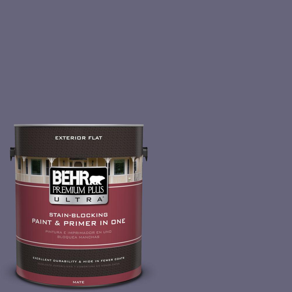 1-gal. #640F-6 Enchanted Evening Flat Exterior Paint
