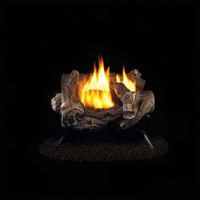 18 in. Vent-Free Propane Gas Log Set with Manual Control