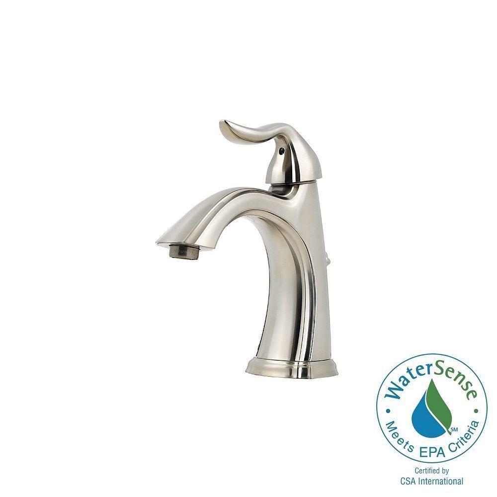 Santiago 4 in. Centerset Single-Handle High-Arc Bathroom Faucet in Brushed Nickel