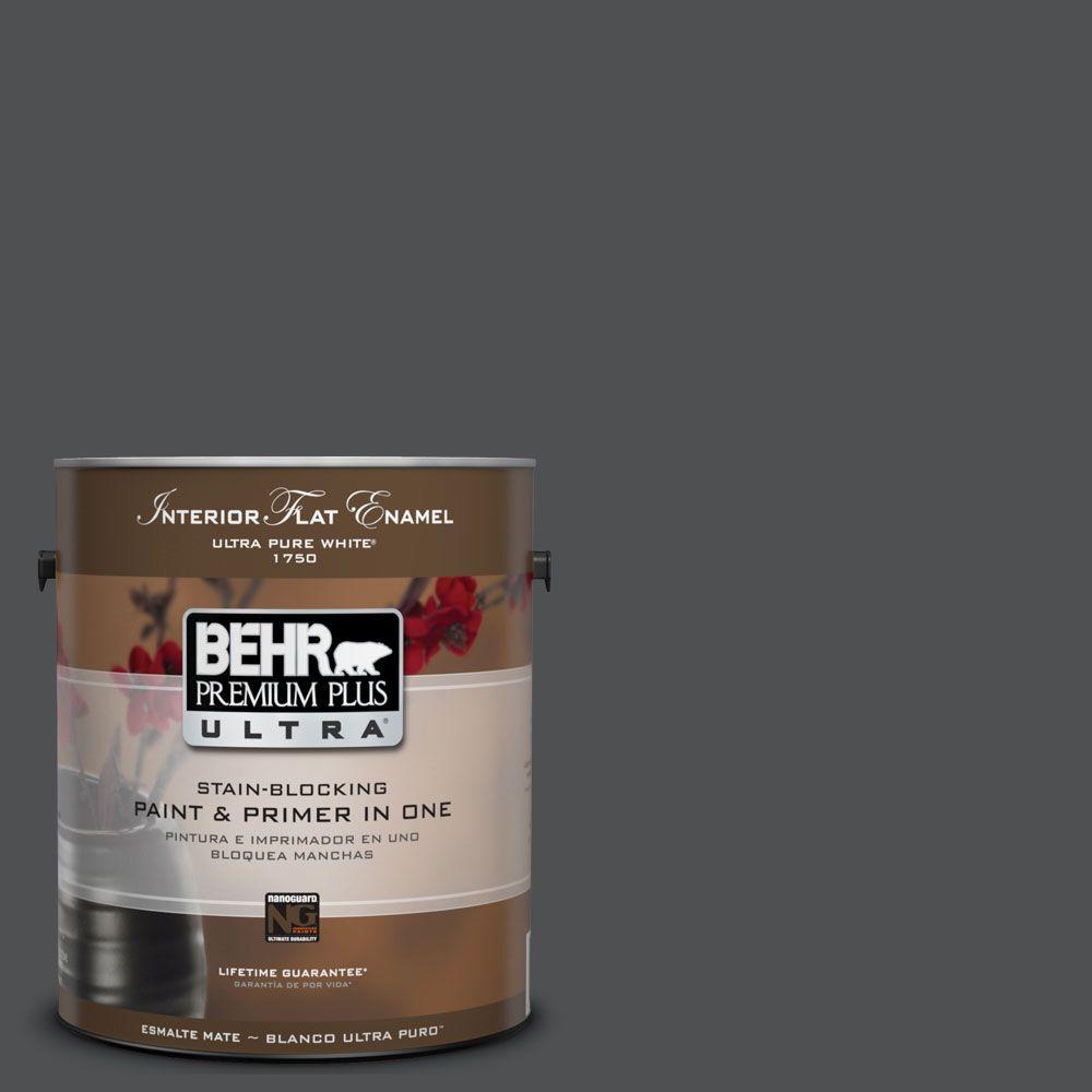 1-Gal. #UL260-1 Cracked Pepper Interior Flat Enamel Paint