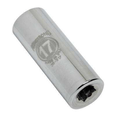 3/8 in. Drive 17 mm 12-Point Deep-Well Metric Socket