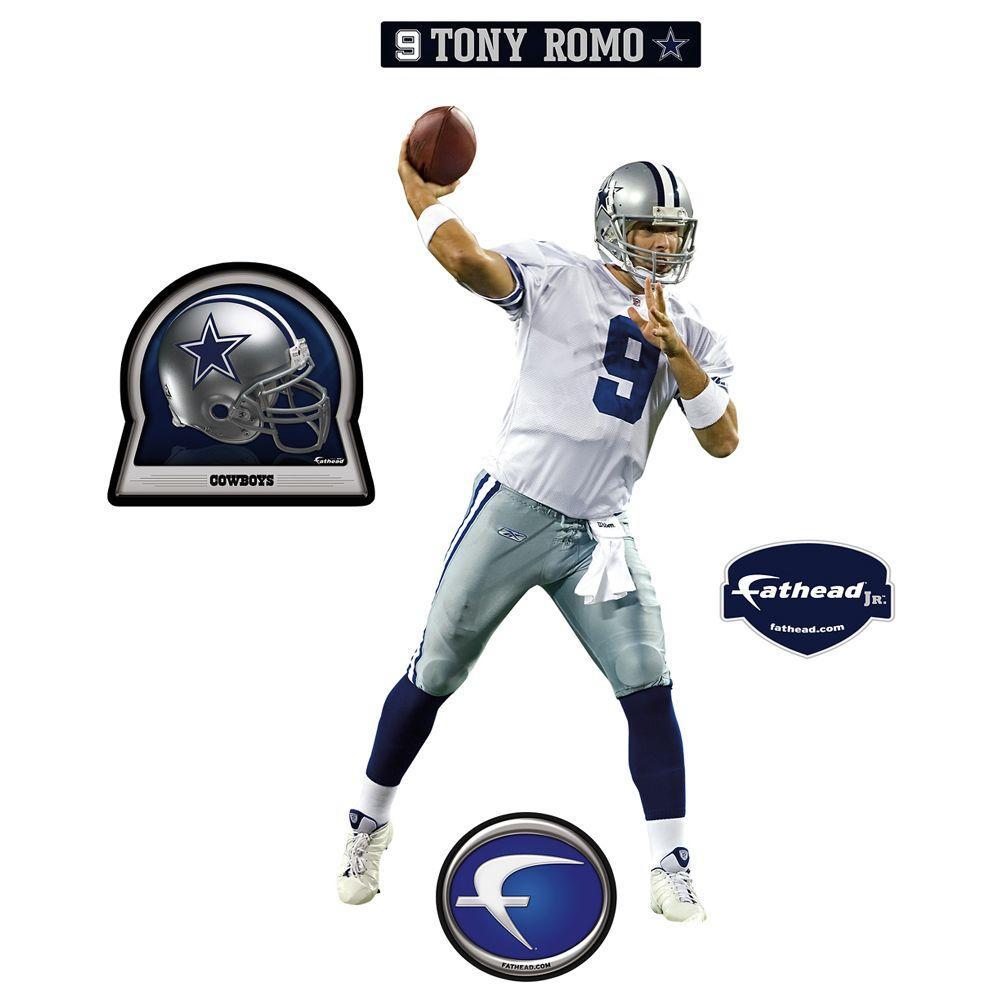 Fathead 17 in. x 35 in. Tony Romo Dallas Cowboys Wall Decal