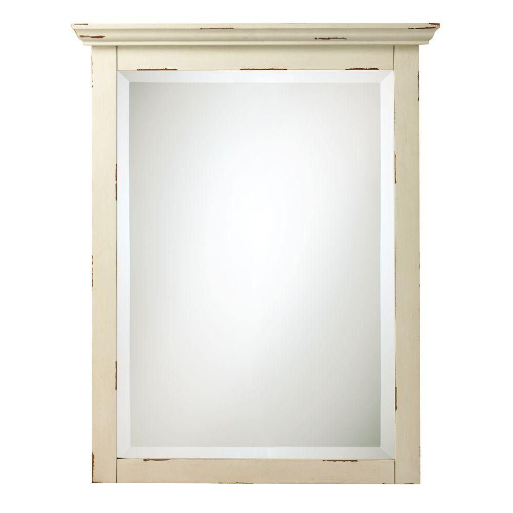 Home decorators collection spencer 30 in h x 23 in w mirror in antique cream discontinued Home decorators collection mirrors