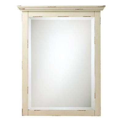 Spencer 30 in. H x 23 in. W Mirror in Antique Cream-DISCONTINUED