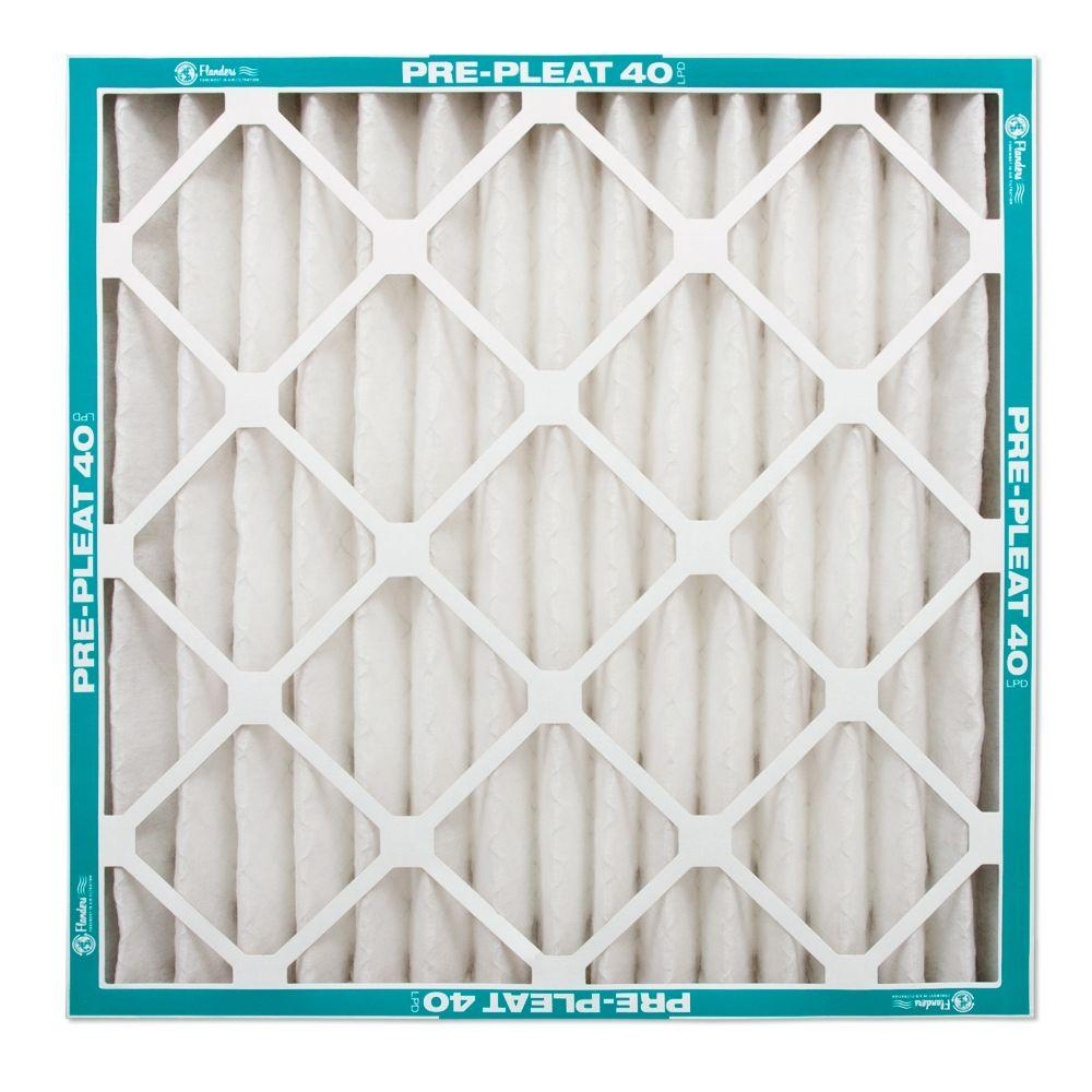 Flanders PrecisionAire 16 in. x 25 in. x 1 in. Prepleat 40 Air Filter (Case of 12)