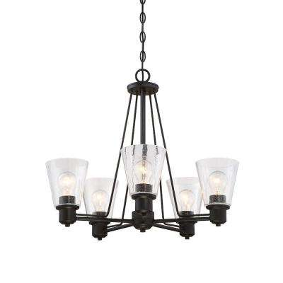 Printers Row 5-Light Oil Rubbed Bronze Interior Incandescent Chandelier