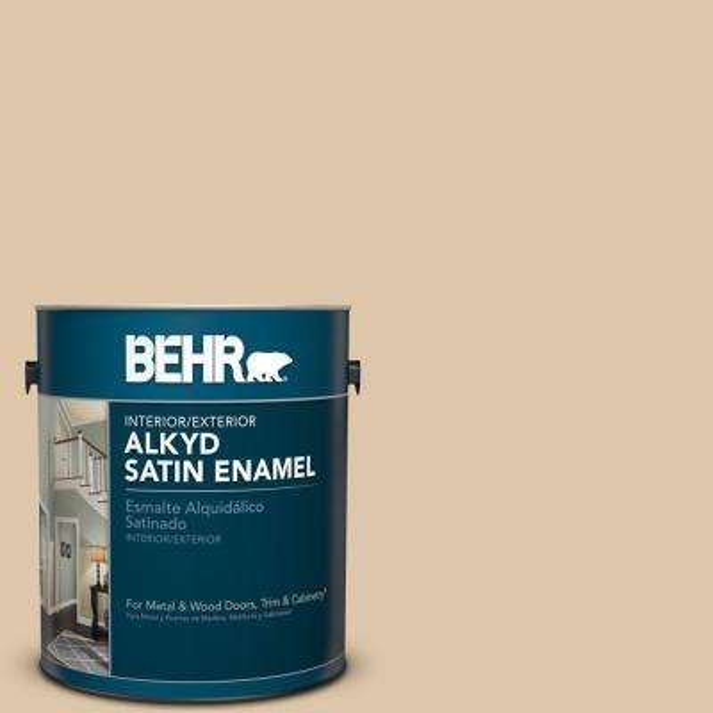 1 gal. #PPU4-13 Sand Motif Satin Enamel Alkyd Interior/Exterior Paint