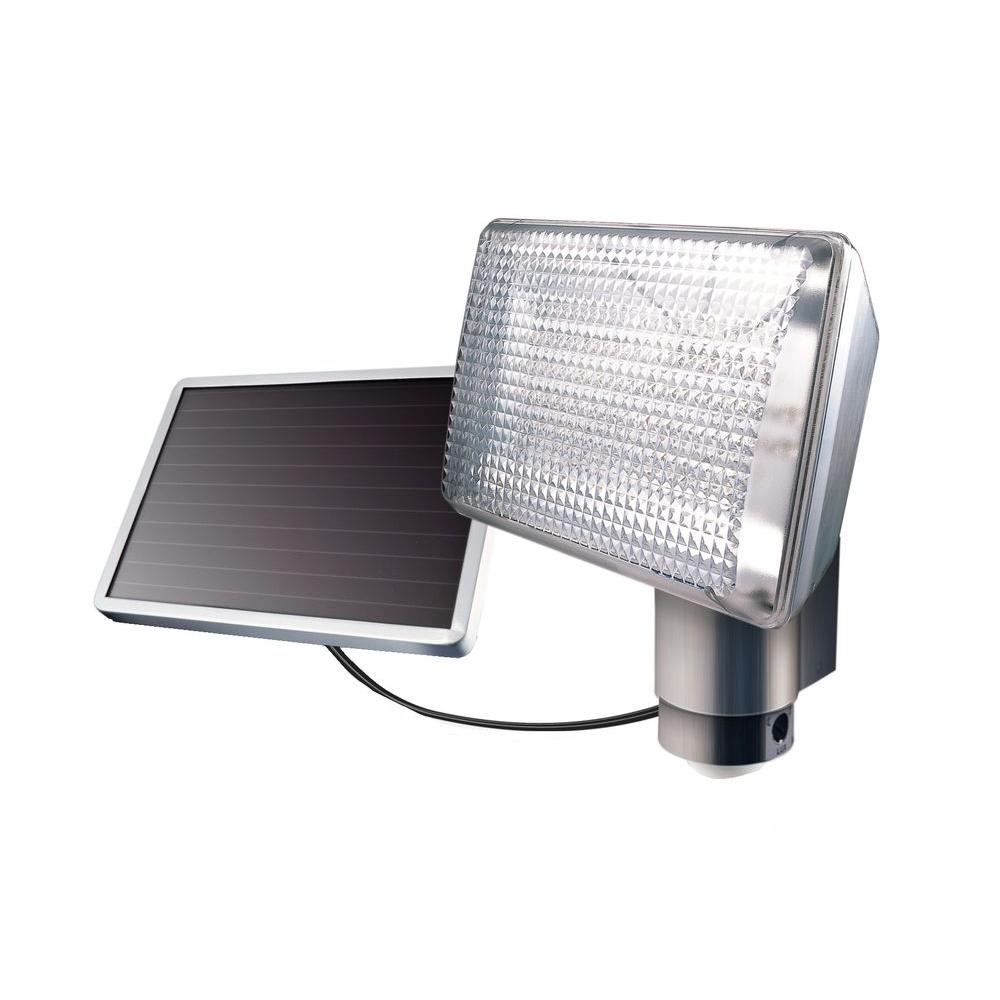 Maxsa 35 ft. Outdoor Gray Solar FloodLight-DISCONTINUED