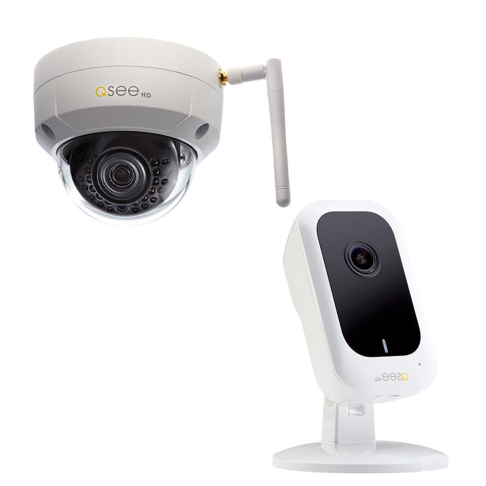 3MP Wi-Fi Mini Cube Surveillance Camera and 3MP Wi-Fi Dome Surveillance Camera Security Bundle