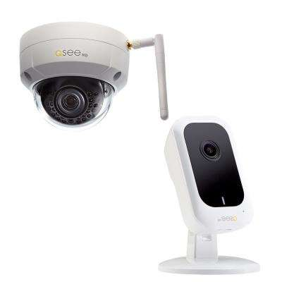 3MP Wi-Fi Mini Cube Surveillance Camera and 3MP Wi-Fi Dome Surveillance Camera Security Bundle