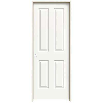 30 in. x 80 in. Coventry White Painted Right-Hand Smooth Molded Composite MDF Single Prehung Interior Door