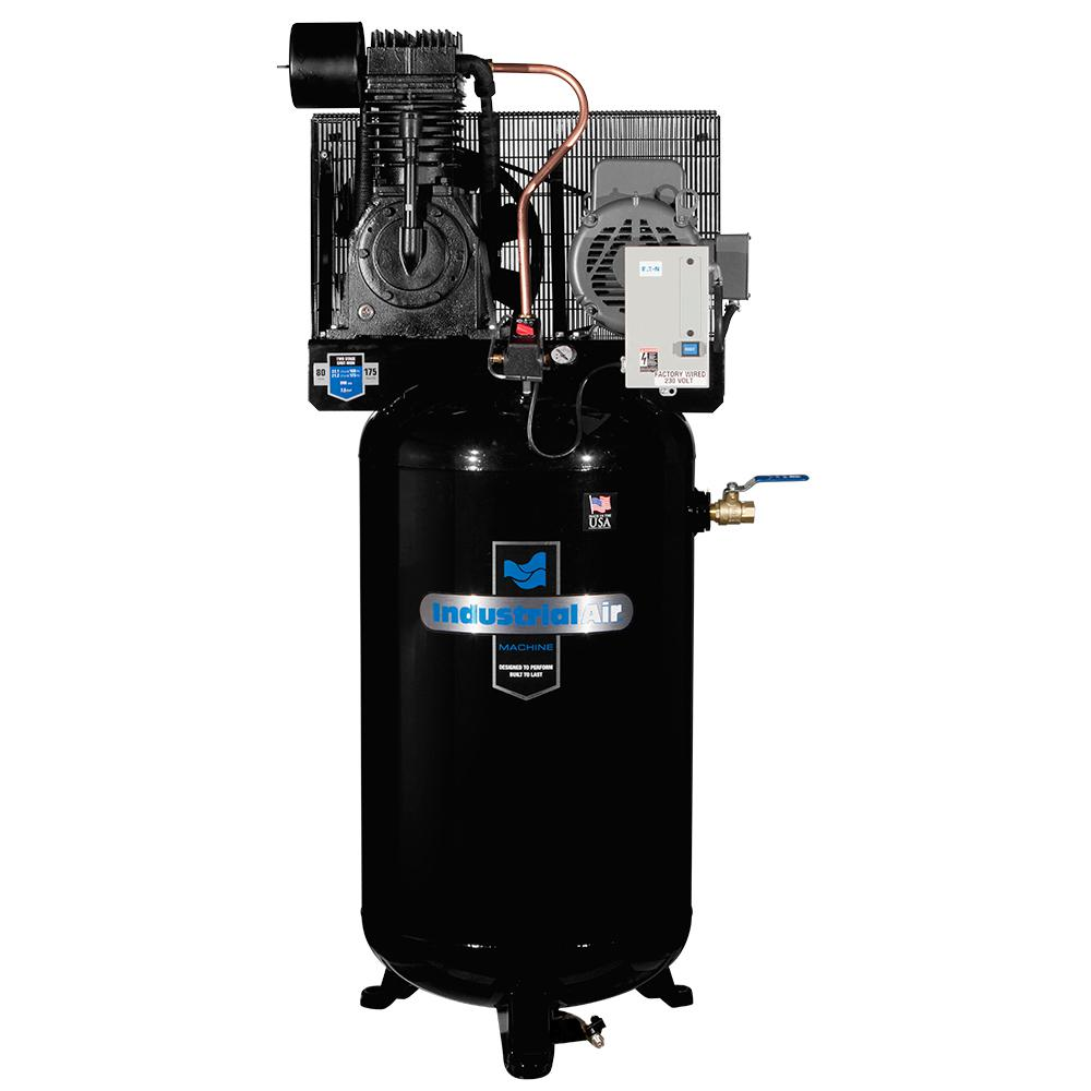 Industrial air 80 gal vertical stationary electric air for 7 5 hp air compressor motor