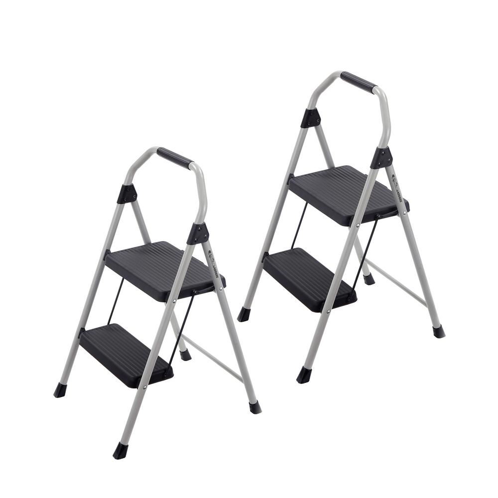 Gorilla Ladders 2-Step Compact Steel Step Stool with 225 lbs. Load Capacity Type II Duty Rating