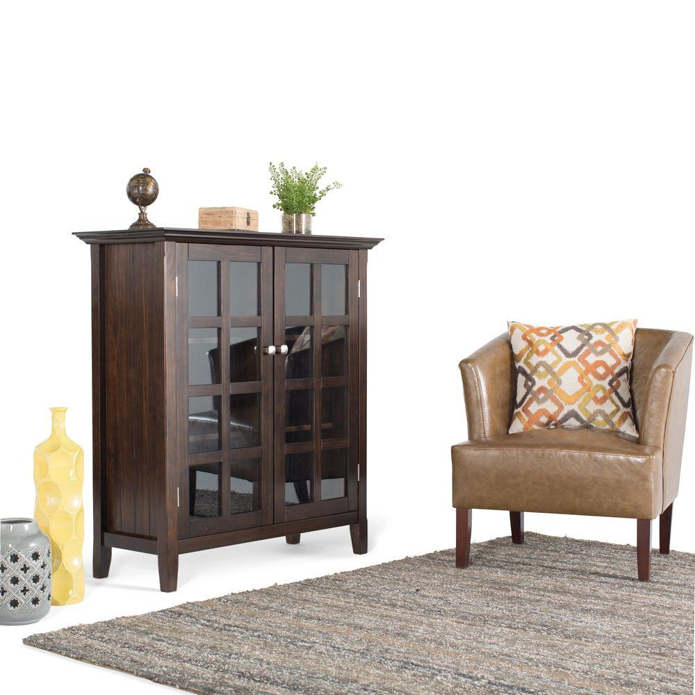 Simpli Home Acadian Storage Cabinet, Brown Price Tracking