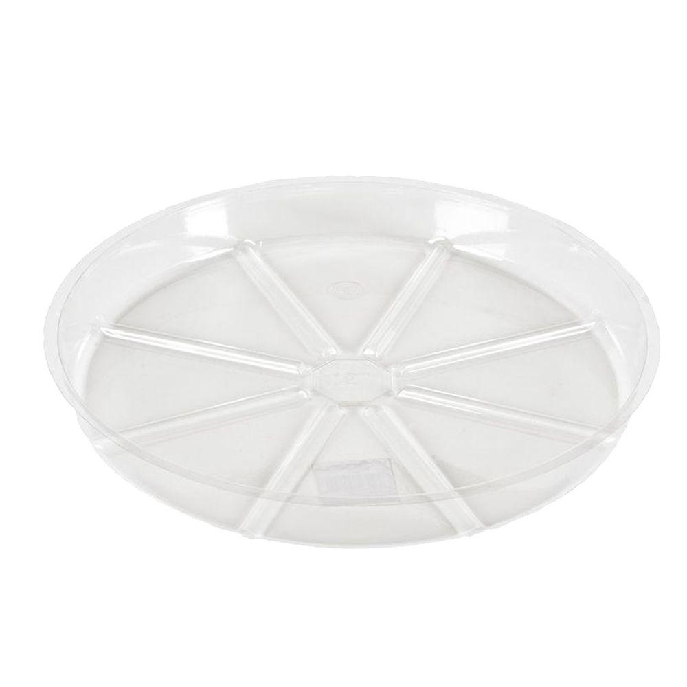 Vigoro 17 in. Clear Plastic Plant Saucer