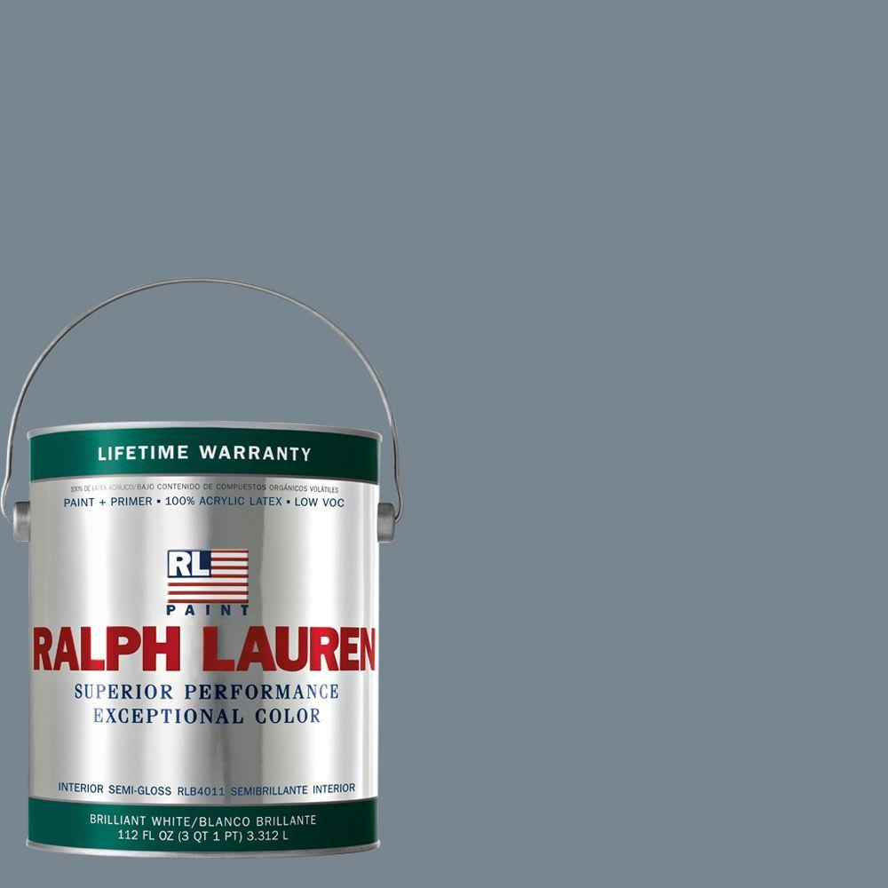 Ralph Lauren 1-gal. Roosevelt Blue Semi-Gloss Interior Paint