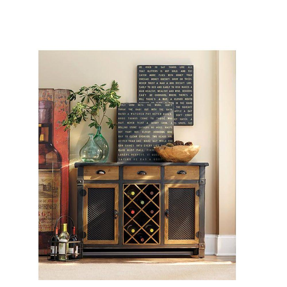 Home Decorators Collection Brown Bar Cabinet-1739900820