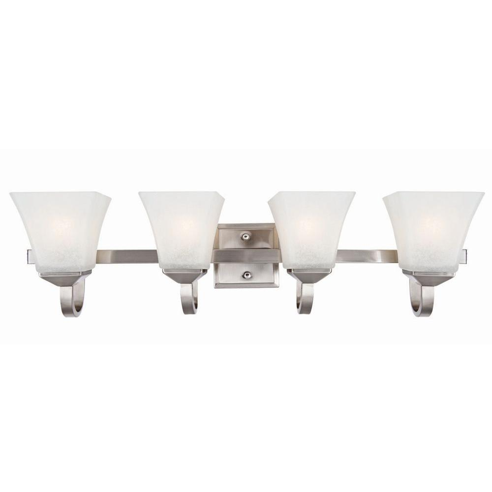 Design House Torino 4-Light Satin Nickel Vanity Light-514778 - The Home Depot