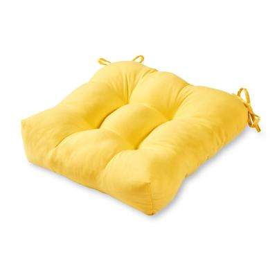 Solid Sunbeam Square Tufted Outdoor Seat Cushion
