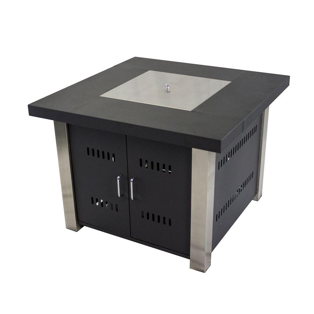 Square Gas Fire Pit Table