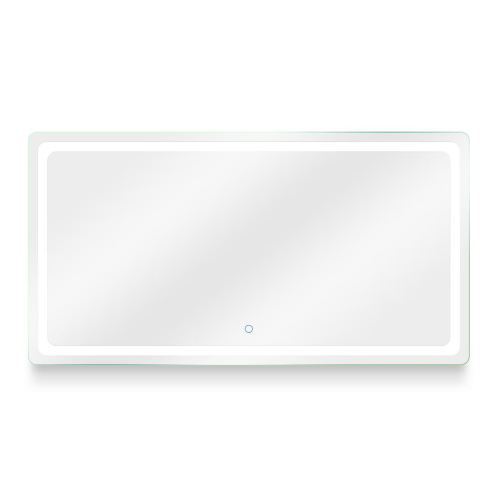 Egret 72 in. W x 38 in. H Frameless Rectangular LED Light Bathroom Vanity Mirror