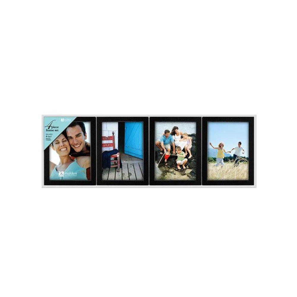 Home Decorators Collection 1-Opening 5 in. x 7 in. Black Picture Frames (Set of 4)