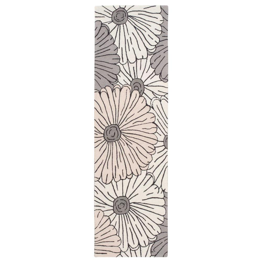 Nourison Fantasy Ivory/Multicolor 2 ft. x 8 ft. Runner Rug