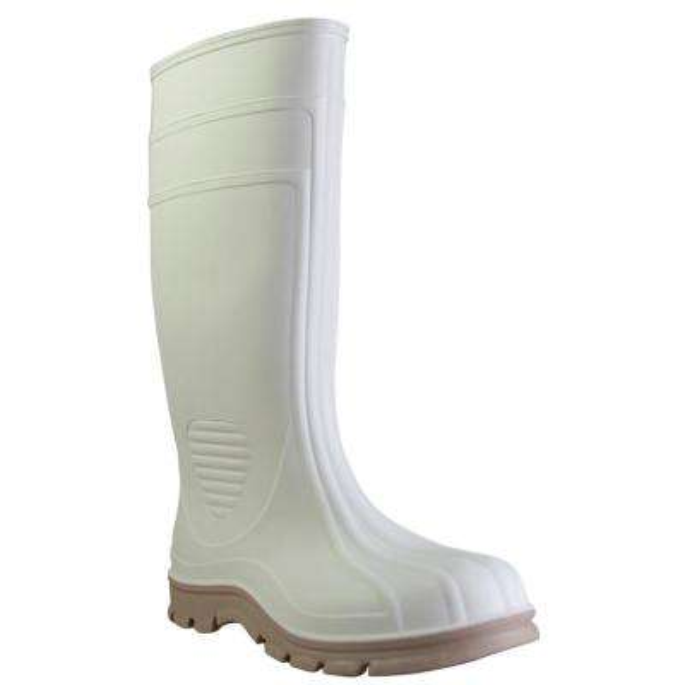 Men's Size 9 White Marine Tuff Steel Toe PVC Boot