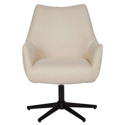 Gunnison Tan Textured Weave Swivel Arm Chair