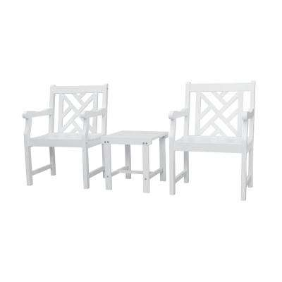 Bradley 3-Piece Wood Patio Conversation Set