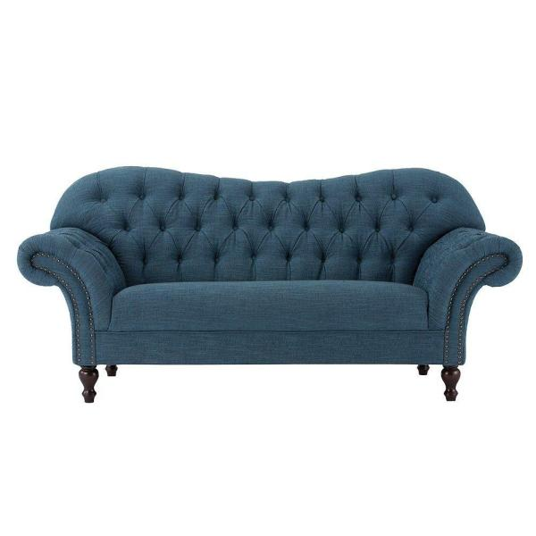 Home Decorators Collection Arden Peacock Polyester Loveseat