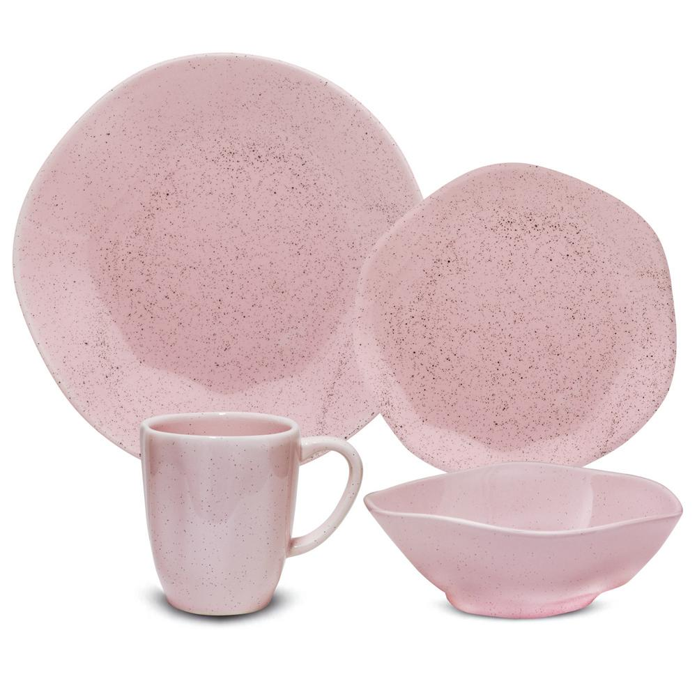 Manhattan Comfort RYO 32-Piece Casual Pink Porcelain Dinnerware Set (Service for 8) was $349.99 now $226.61 (35.0% off)