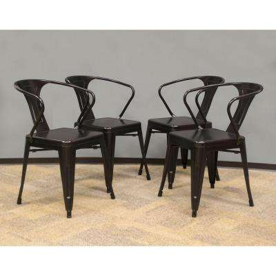 Black Metal Dining Chair (Set of 4)