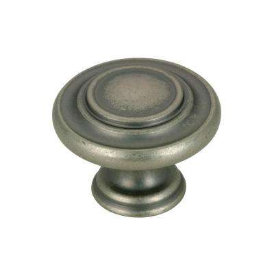 1-3/8 in. Pewter Traditional Knob