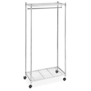912a9c81004 Supreme Shelving Collection 36 in. x 70.25 in. Supreme Garment Rack in  Chrome