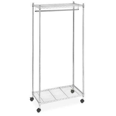 Supreme Shelving Collection Chrome Clothes Rack (36 in. W x 70 in. H)