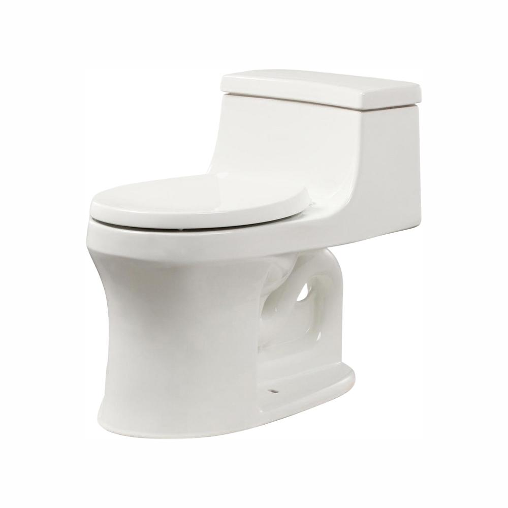 Fantastic Kohler San Souci 1 Piece 1 28 Gpf Single Flush Round Toilet In White Dailytribune Chair Design For Home Dailytribuneorg