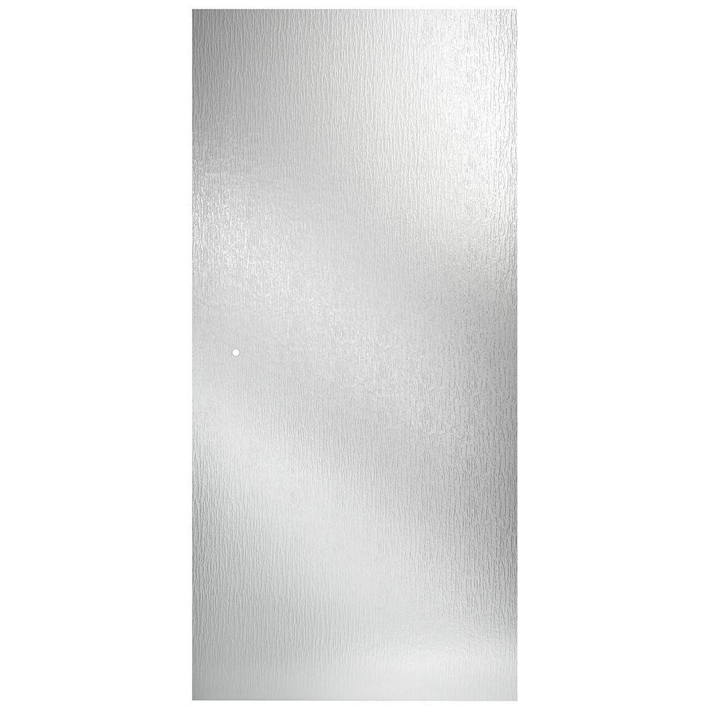 Delta 36 in. Semi-Frameless Pivot Shower Door Glass Panel in Rain