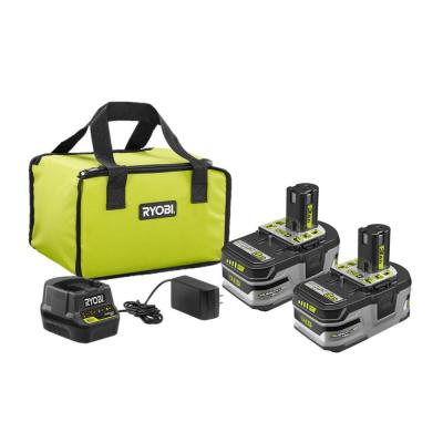 Ryobi P166 18V ONE+ HP 3.0 Ah Battery 2-Pack Starter Kit W/ Charger & Bag
